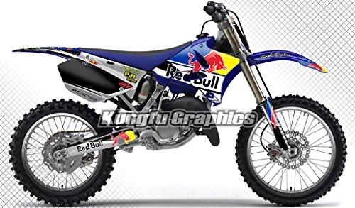 Kungfu Graphics Custom Decal Kit for Yamaha YZ125 YZ250 2006 2007 2008 2009 2010 2011 2012 2013 2014 Black Blue