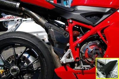 Ducati Carbon Fiber Exhaust Cover Guard 848 1098 1198 S