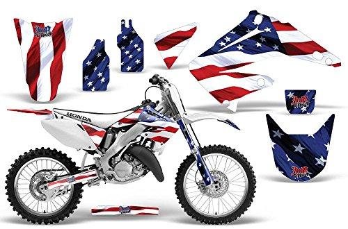 2002-2014 Honda CR 125250 AMRRACING ATV Graphics Decal Kit-Stars and Stripes
