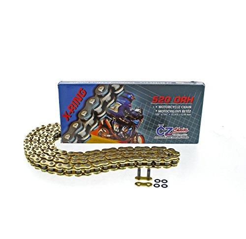2000-2001 2003-2007 Honda CR125 R CZ ORH Gold X Ring Chain 520-120L