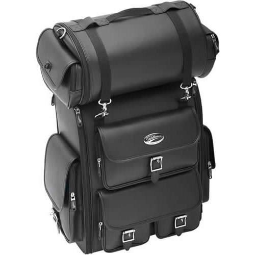 Saddlemen 3515-0096 Drifter Deluxe Sissy Bar Bag With Plain Roll Bag