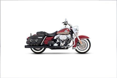 Rinehart 100-0103 Black 35 True Dual Complete Exhaust System for 1995-2008 Harley FLHFLT Touring Models