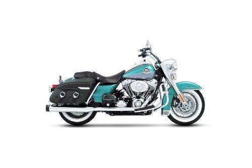 Rinehart 100-0202 Chrome 4 True Dual Complete Exhaust System for 1995-2008 Harley FLHFLT Touring Models