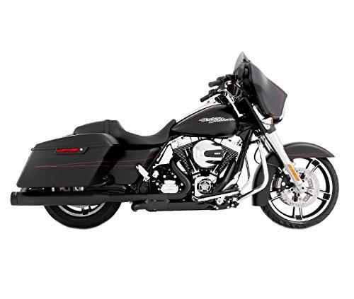 Rinehart 100-0405 Black Slimline Duals with 4 Slip-Ons for 2017 Harley Touring