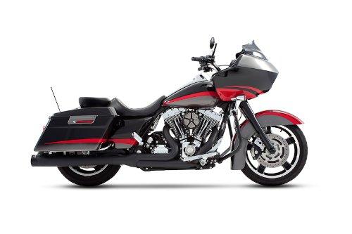 Rinehart 200-0101 2-1 Black Exhaust System with 4 Muffler for 2009-2016 Harley Touring FLHFLT Models