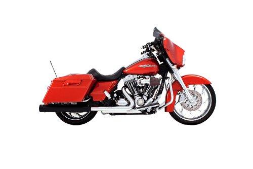 Rinehart Black 4 Slip-on Mufflers for Harley Davidson 1995-2014 Touring Models with Stock Headers
