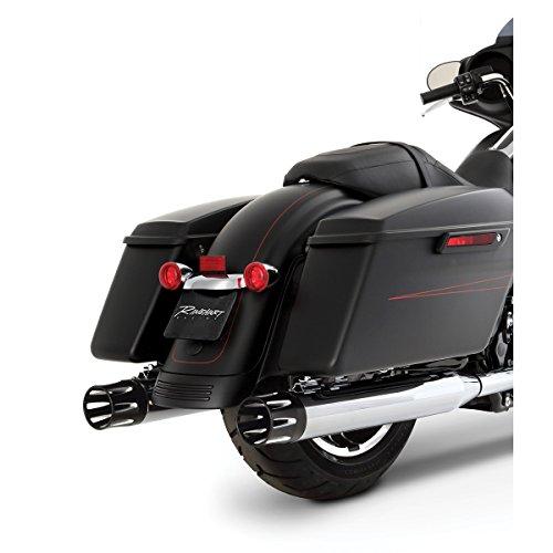 Rinehart Racing Moto Series 4 Slip-ons Chrome with Black Merge End Caps