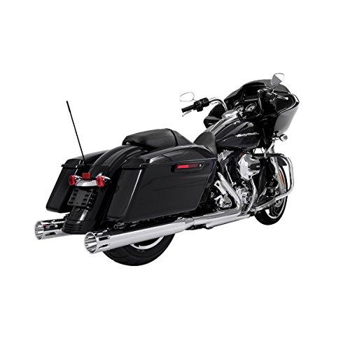 Rinehart Racing Moto Series 4 Slip-ons Chrome with Chrome Slot End Caps