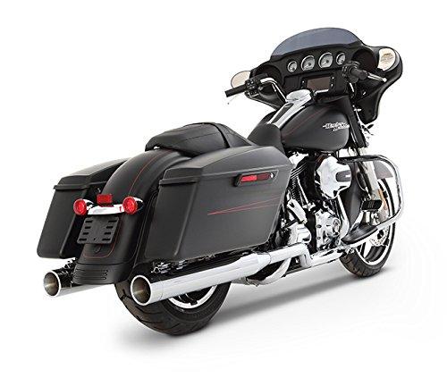 Rinehart Racing Xtreme True Duals Exhaust 4 Mufflers Chrome with Chrome End Caps