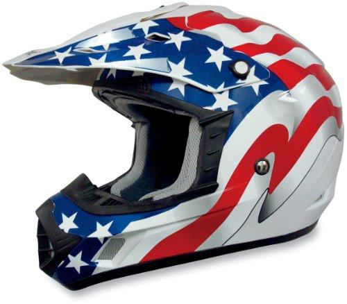AFX FX-17 Freedom Helmet  Size Lg Primary Color White Helmet Type Offroad Helmets Helmet Category Offroad Distinct Name White Flag Gender MensUnisex 0110-2377