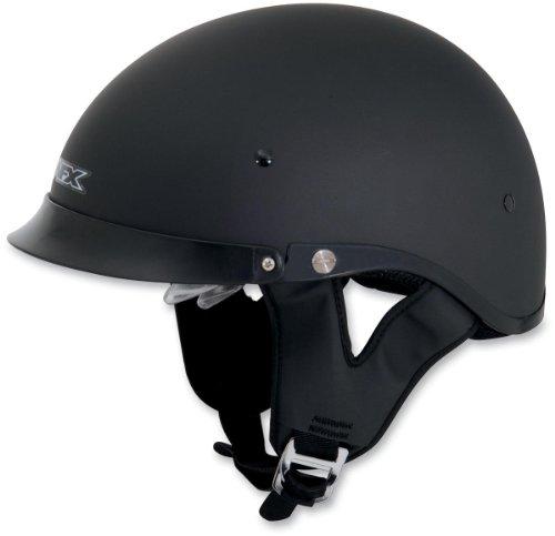 AFX FX-200 Dual Inner Lens Half-Style Beanie Helmet Flat Black 0103-0735 Size Md