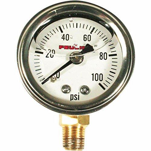 Feuling Oil Pressure Gauge - Bottom Port - White Face 9040