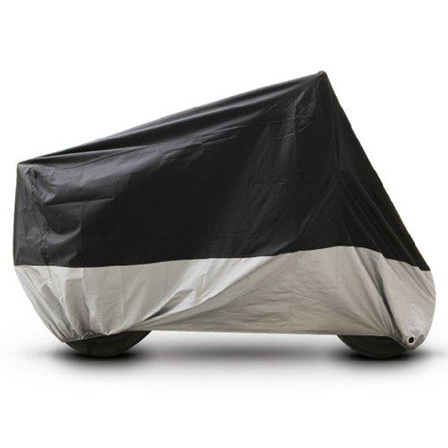 Black Silver Motorcycle Cover For Harley davidson Sportster 1200c UV Dust Prevention L