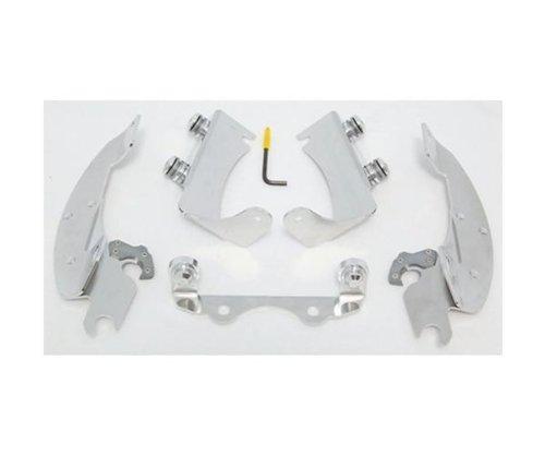 Memphis Shades Batwing Fairing Polished Trigger-Lock Mount Kit