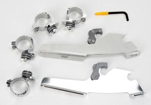 Memphis Shades Trigger-Lock Mounting Kit PolishedFats and Slim Windshields for 09-19 Harley XL883N