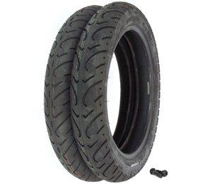 Kenda K657 Challenger Tire Set - Honda CX500CD GL500 CB550SC CB650CSC GL650 - Tires and Valves