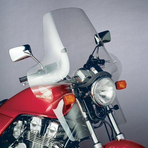 National Cycle Plexifairing Three Windshield For Honda CX500C 1979-1982  GL1000 1975-1979  GL1100 1980-1983  GL1200 1984  GL500 1981-1982  GL650 1983  Suzuki GS1150E 1985-1986  Yamaha XV920 Virago 1982 - 22 Inches Height x 29-12 Inches Wid
