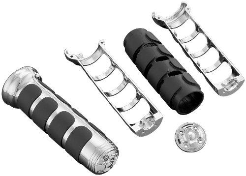 Kuryakyn ISO Gloss Black Grips - w Heated GripsGloss Black