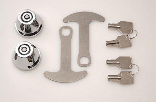 Lidlox 1032-C - Bar End Helmet Lock Pair for Kuryakyn ISO and Kinetic Grips Chrome