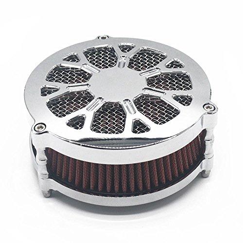 BBUT Chrome Air Cleaner Intake Filter System Kits For Harley Davidson Dyna FXD FLST FXST 2008-UP 2009 2010 2011 2012 2013 2014 2015 2016 2017 2018 2019