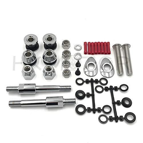 HONGK- HardDrive Sissy Bar Docking Hardware Kit Chrome Compatible with 02-05 Harley Davidson Dyna FXD B07N144WSL