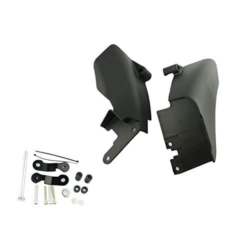 Left Right Black Mid-Frame Air Heat Deflector Trim Accents Shield for Harley-Davidson Dyna FXD Models 2006-2017