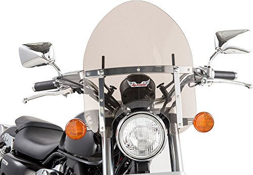 Police Style Motorcycle WindShield for Harley-Davidson Dynas FXD Super Glide 2006-2010 Tinted Shield 15 H x 145 W