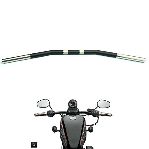 Alpha Rider 1 inch Drag Style Steel Handlebars Drag Bar Dimpled for Harley Softail Slim FLS 2013 - 2015  Standard EFI FXSTI 2001 - 2006  Standard FXST 1984 - 1990 1999 - 2015