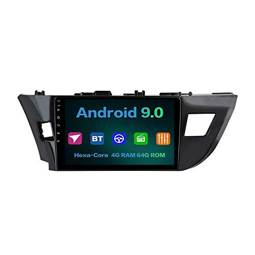 Dasaita Android 90 Car Audio Stereo Head Unit 102 GPS Navigation for Toyota Corolla 2014 2015 2016 Bluetooth Multimedia Car Radio Vehicle Music Video Player Touchscreen Hexa Core 4G64G