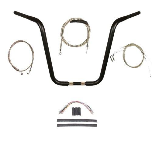 1 14 Black Wild 1 18 Pyscho Ape Hanger Handlebar Kit 2011-2015 Harley-Davidson Softail models without ABS brakes - BSC-0601-1204-ST11