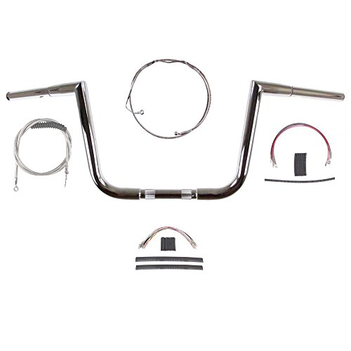 Hill Country Customs 1 14 Chrome 10 Jarhead Handlebar Kit for 2008-2013 Harley-Davidson Road Glide and Road King models with ABS Brakes - BSC-HC-JH11410C-RGK08A