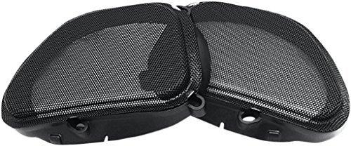 Hogtunes 57 MESH Replacement Front Speaker Grille for 1998-2013 Harley-Davidson FLTR Road Glide Models