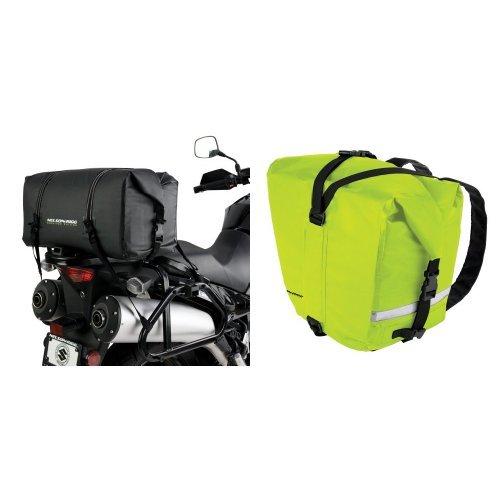 Nelson-Rigg SE-2005-BLK Black Medium Adventure Dry Bag and  SE-2055-HVY Hi-Visibility Yellow Adventure Dry Saddlebag Bundle