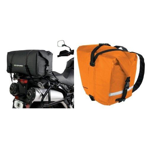 Nelson-Rigg SE-2005-BLK Black Medium Adventure Dry Bag and  SE-2060-ORG Hi-Visibility Orange Adventure Dry Saddlebag Bundle