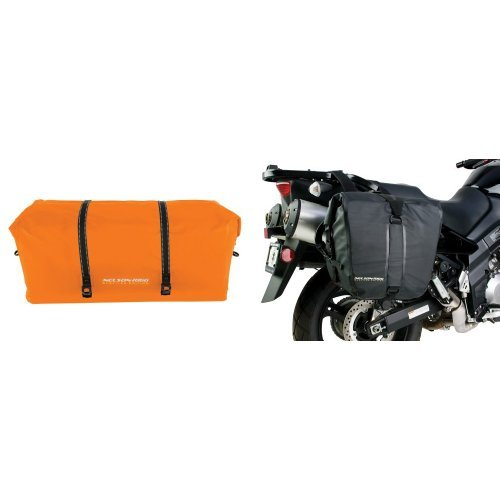 Nelson-Rigg SE-2030-ORG Hi-Visibility Orange Large Adventure Dry Bag and  SE-2050-BLK Black Adventure Dry Saddlebag Bundle