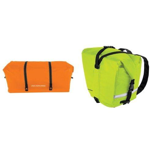 Nelson-Rigg SE-2030-ORG Hi-Visibility Orange Large Adventure Dry Bag and  SE-2055-HVY Hi-Visibility Yellow Adventure Dry Saddlebag Bundle