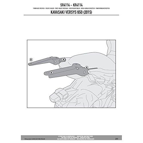 Givi SR4114 Rear Rack Adapter Kawasaki Versys 650 2015-2017