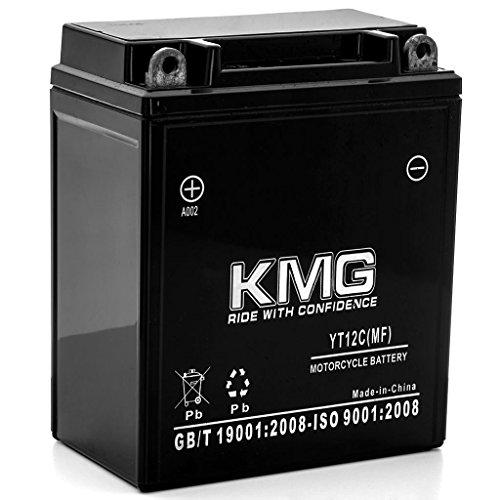 KMG 1980-1983 Kawasaki KZ750-E H L LTD YT12C Sealed Maintenance Free Battery 12V Powersport Motorcycle Scooter ATV