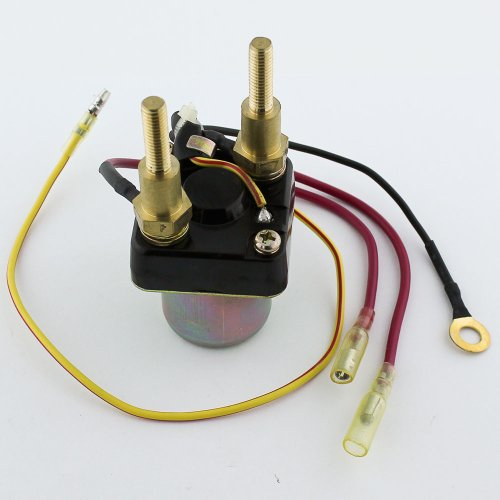 Caltric STARTER SOLENOID RELAY Fits KAWASAKI JS550 JS-550 550 SX 1982-1991 4-wire long bolts
