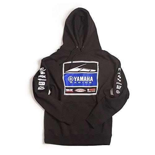 Factory Effex Unisex-Adult Yamaha Racing Team Hooded Sweatshirt Black Large 1 Pack