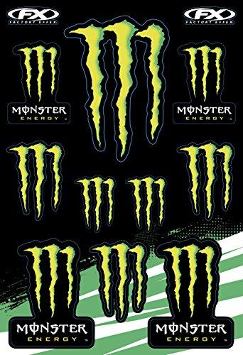 Monster Energy Factory Effex FX 45x30 cm Moto Velo Deco Big Monster Energy stickers