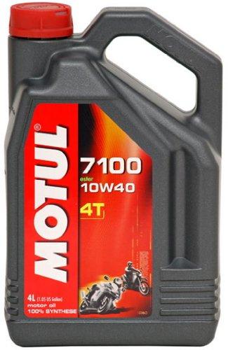Motul 7100 4T Full-Synthetic Motorcycle Oil 10W40 1 Gallon