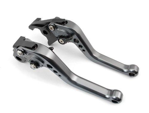 A pair of Short Billet Aluminum Clutch Brake Levers Motorcycle Set Gray for Honda CBR600 F2 F3 F4 F4i 1991 1992 1993 1994 1995 1996 1997 1998 1999 2000 2001 2002 2003 2004 2005 2006 2007 H-626F-18
