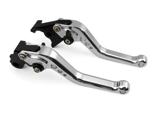 A pair of Short Billet Aluminum Clutch Brake Levers Motorcycle Set Silver for Honda CBR600 F2 F3 F4 F4i 1991 1992 1993 1994 1995 1996 1997 1998 1999 2000 2001 2002 2003 2004 2005 2006 2007 H-626F-18