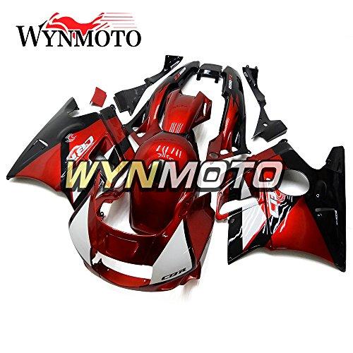 WYNMOTO ABS Plastic Full Motorcycle Fairing Kit For Honda CBR600 F2 1991 1992 1993 1994 Gloss Red Black Sportbike Body Frames