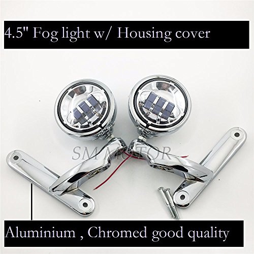 LED Auxiliary Motorcycle Fog light harley Passing Lights Housing Brackets For CVO Street Glide FLHXSE3