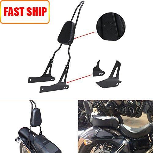 Black Detachable Backrest Sissy Bar Luggage Rack For Harley Davidson Dyna Fxd Fxdb Fxdc Fxdl Fxdwg Fxdse
