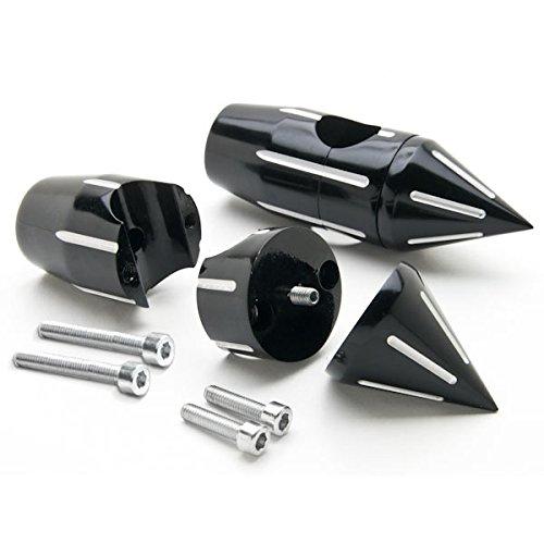 Krator Custom Black Motorcycle 1 Handlebar 225 Risers For Harley Davidson Dyna Glide Wide Glide FXDWG FXWG