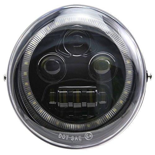New DRL Angel Eye LED Headlight For Harley-Davidson VRSCA V-Rod VRod Night Rod SpecialBlack