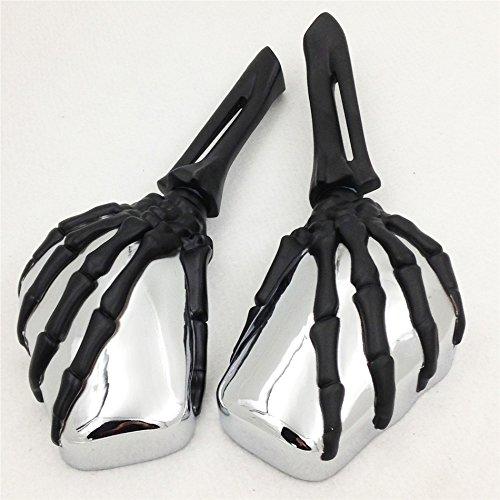 XKH Group Motorcycle Claw Skull Mirror for Harley Heritage Springer Sportster Dyna Glide Softail V Rod Black new